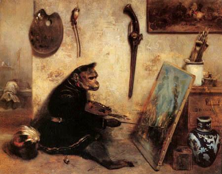 Invocando al mono pintor.